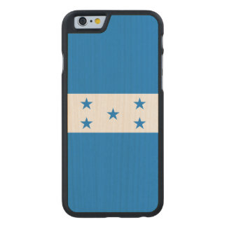 Honduras Flag Carved® Maple iPhone 6 Case