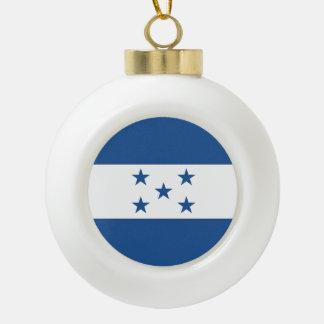 Honduras Flag Ceramic Ball Ornament