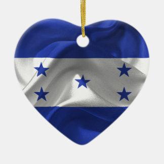 honduras-Flag Ceramic Heart Ornament