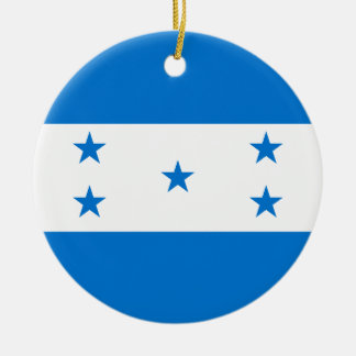 Honduras Flag Ceramic Ornament