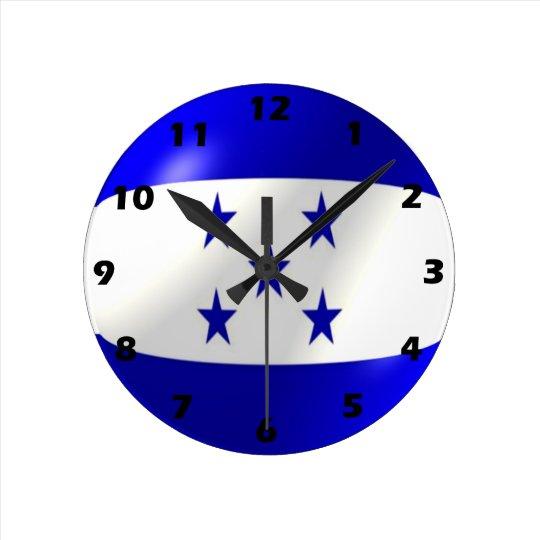 Honduras Flag Design Round Clock