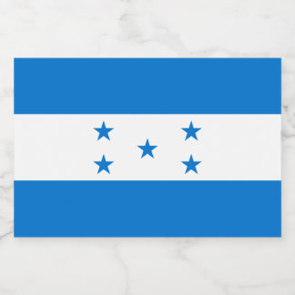 Honduras Flag Food Label