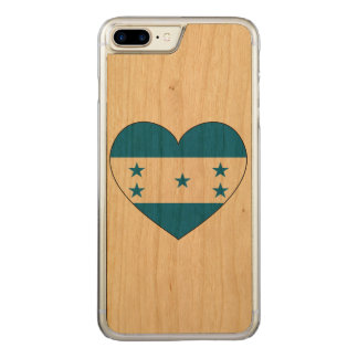 Honduras Flag Heart Carved iPhone 8 Plus/7 Plus Case