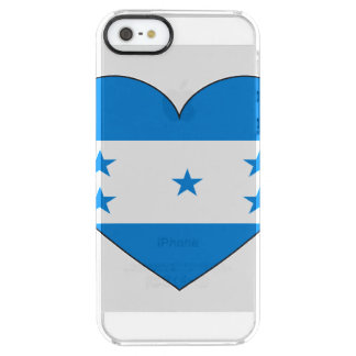 Honduras Flag Heart Clear iPhone SE/5/5s Case