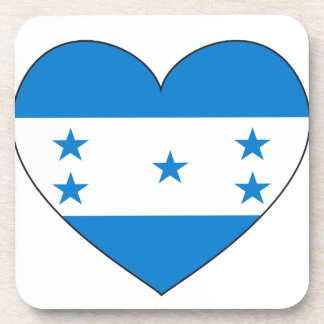 Honduras Flag Heart Coaster