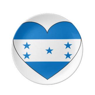Honduras Flag Heart Plate
