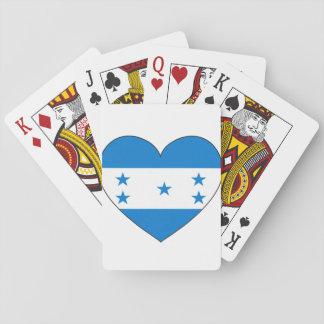 Honduras Flag Heart Playing Cards