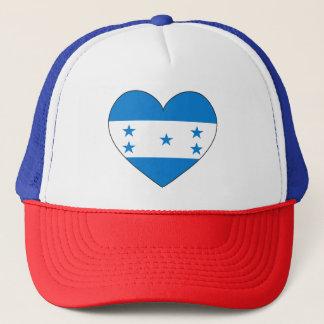 Honduras Flag Heart Trucker Hat