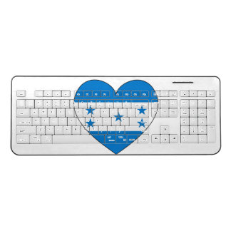 Honduras Flag Heart Wireless Keyboard