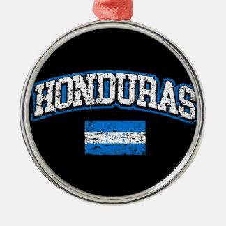 Honduras Flag Silver-Colored Round Ornament