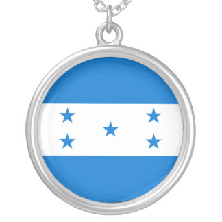 Honduras Flag Silver Plated Necklace