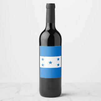 Honduras Flag Wine Label