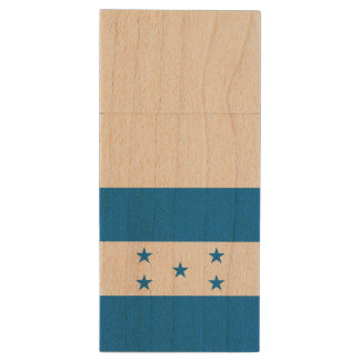 Honduras Flag Wood USB 3.0 Flash Drive