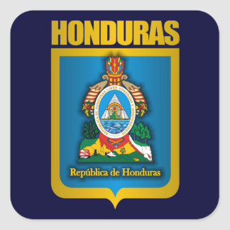 """Honduras Gold"" Square Sticker"
