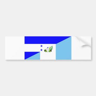 honduras guatemala country half flag symbol bumper sticker