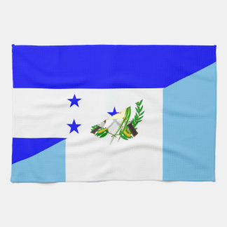 honduras guatemala country half flag symbol kitchen towel