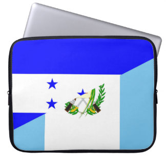 honduras guatemala country half flag symbol laptop sleeve