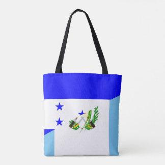 honduras guatemala country half flag symbol tote bag