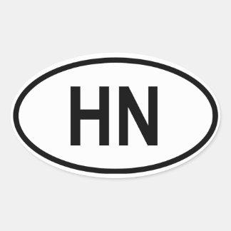 "Honduras ""HN"" Oval Sticker"