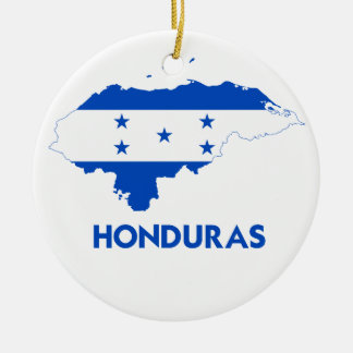 HONDURAS MAP CERAMIC ORNAMENT