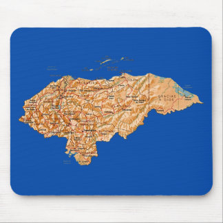 Honduras Map Mousepad