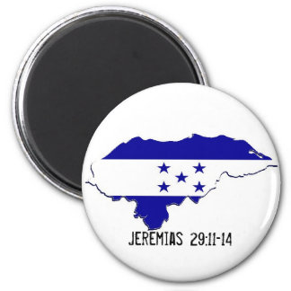 Honduras Mission Jeremias 29:11-14 - Customized 2 Inch Round Magnet