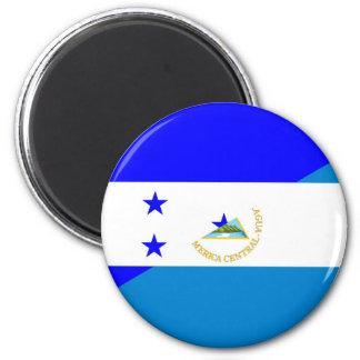 honduras nicaragua country half flag 2 inch round magnet