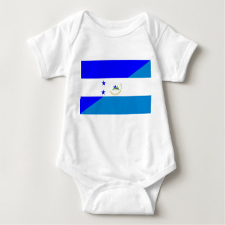 honduras nicaragua country half flag baby bodysuit