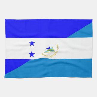 honduras nicaragua country half flag kitchen towel