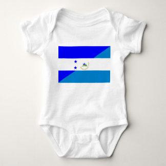 honduras nicaragua half flag country symbol baby bodysuit