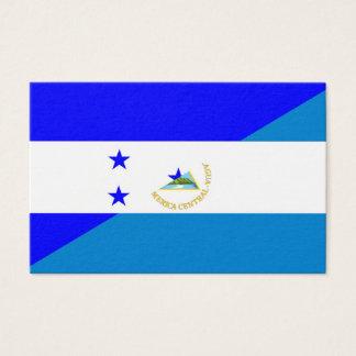 honduras nicaragua half flag country symbol business card