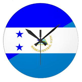 honduras nicaragua half flag country symbol clock
