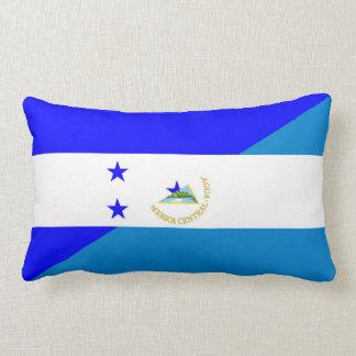 honduras nicaragua half flag country symbol lumbar pillow