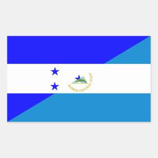 honduras nicaragua half flag country symbol sticker