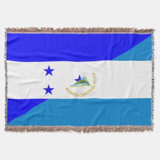 honduras nicaragua half flag country symbol throw