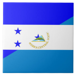 honduras nicaragua half flag country symbol tile