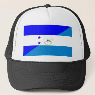 honduras nicaragua half flag country symbol trucker hat