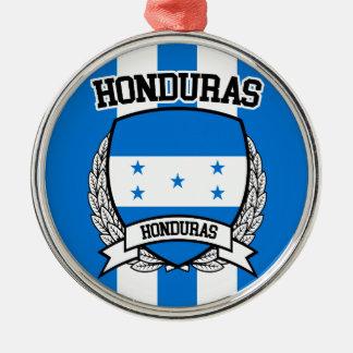 Honduras Silver-Colored Round Ornament