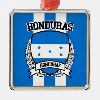 Honduras Silver-Colored Square Ornament
