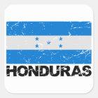 Honduras Vintage Flag Square Sticker