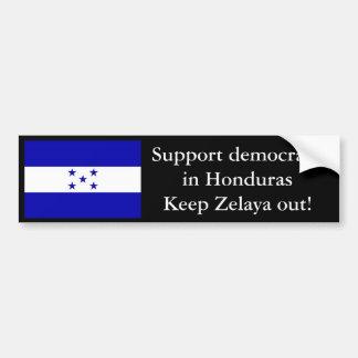 HondurasFlag, Support democracy in HondurasKeep... Bumper Sticker