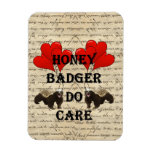 Hone badger do care rectangle magnets