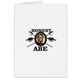 honest abe with swords card