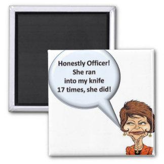 Honestly Officer! Square Magnet