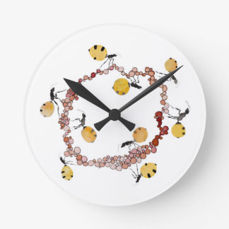 Honey Ant Roundabout Round Clock