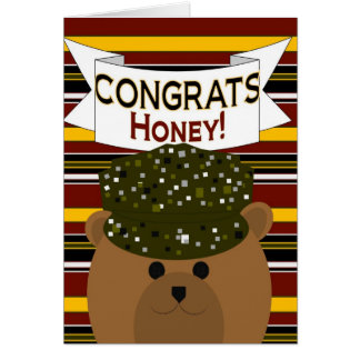 Honey - Army Soldier Congrats! Card