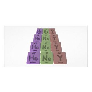 Honey as Holmium Neon Yttrium Photo Cards