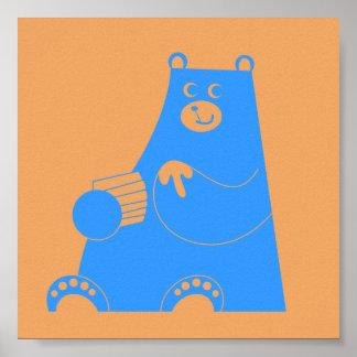 Honey B alternate sky blue Poster