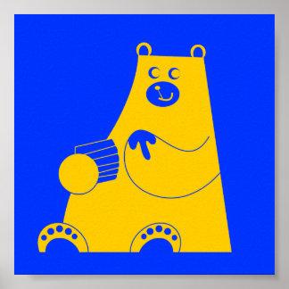 Honey B alternate yellow Poster