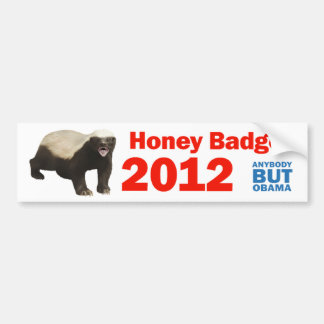 Honey Badger 2012 Bumper Sticker
